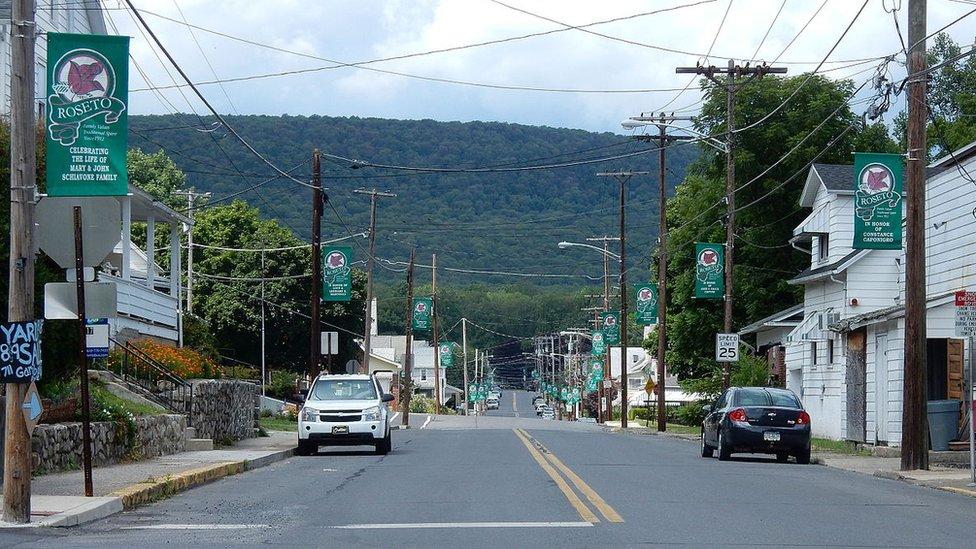 Avenida Garibaldi, en Roseto, Pensilvania