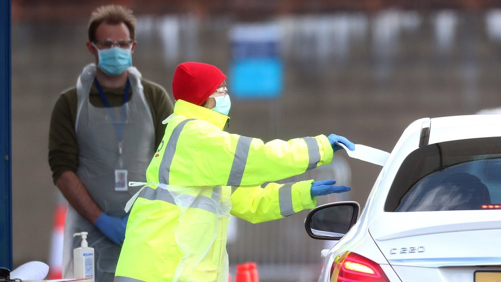 Coronavirus testing at the SSE arena in Belfast