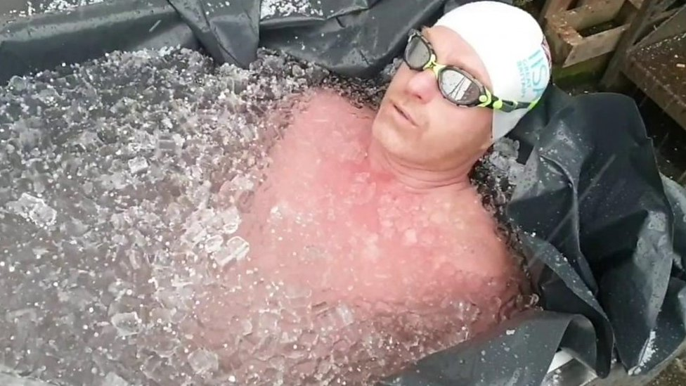 Why this Gloucester man is enduring painful ice bath