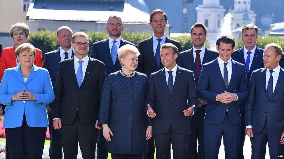 EU leaders at informal summit in Salzburg last month