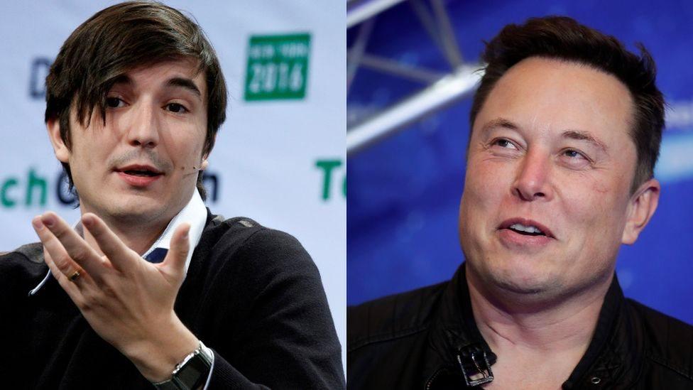 伊隆·馬斯克(Elon Musk)與美國金融服務公司羅賓漢(Robinhood)的總裁弗拉德·特涅夫(Vlad Tenev)有一場對話會