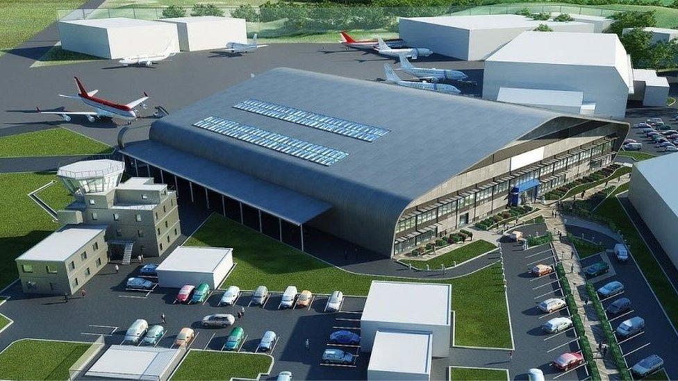 Artist impression of aerospace centre
