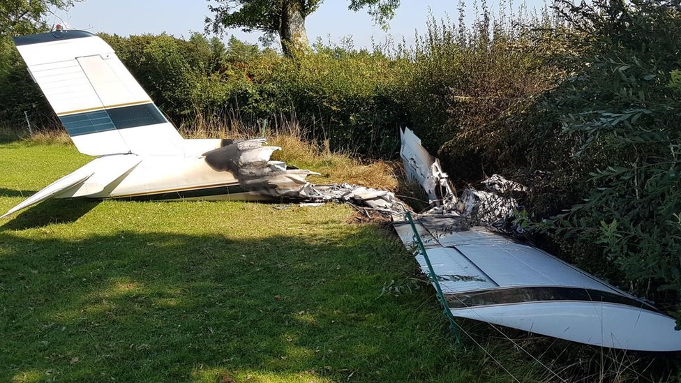Two injured in light aircraft crash on Devon and Dorset border