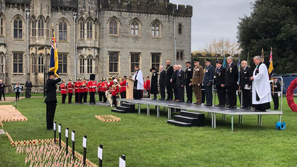 Remembrance service at Cardiff Castle