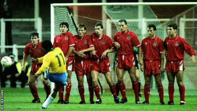 Wales stun Brazil's 'Samba Boys' in '91