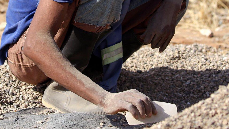 رجال المناجم في جنوب افريقيا
