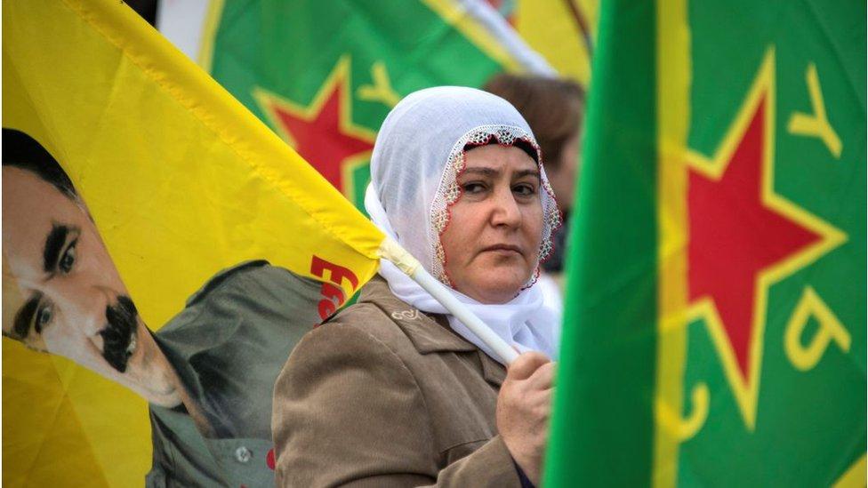 متظاهرة كردية