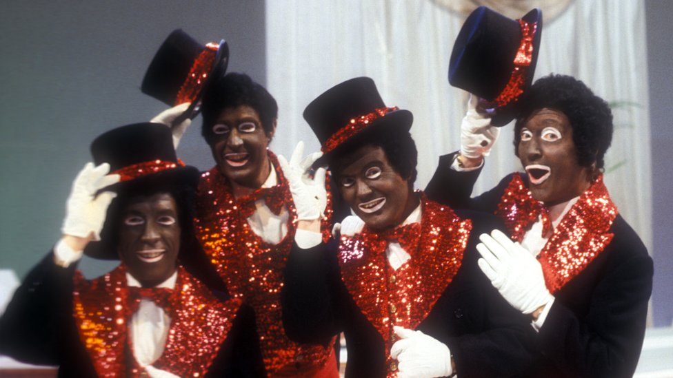 "Bob Hunter, Les Rawlings, Ted Darling, Dai Francis en ""The Black and White Minstrel Show""."