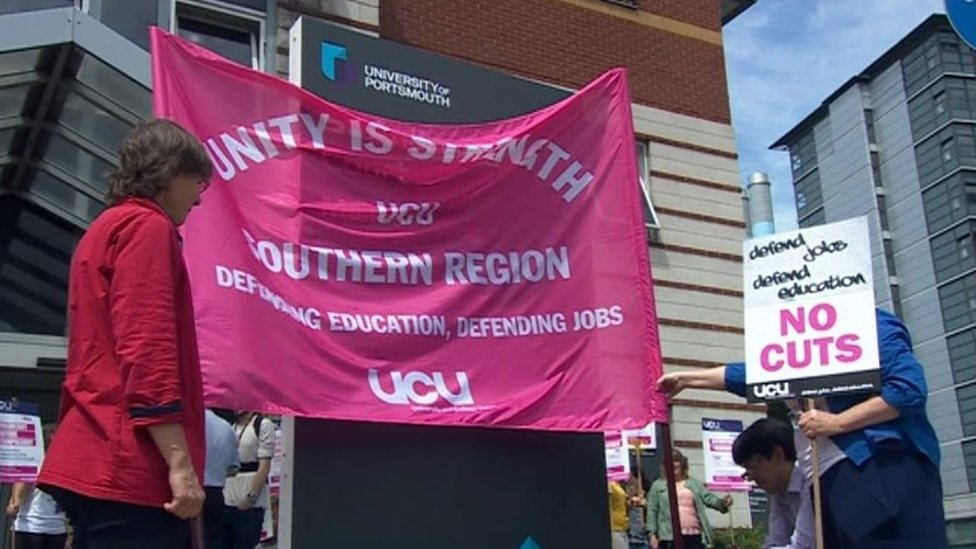University of Portsmouth protest on 10 July 2019