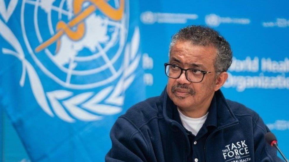 Direktur jenderal WHO Tedros Adhanom Ghebreyesus