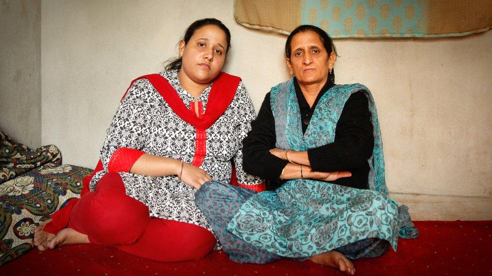 Varsha Kaul (left) with her mother Kiran Kaul