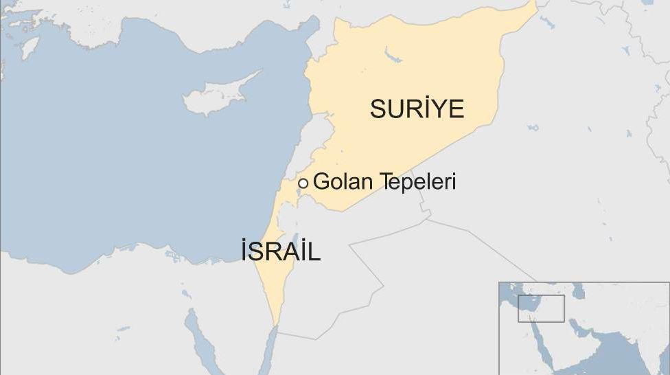 Golan tepeleri harita