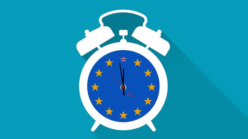 Brexit alarm clock illustration