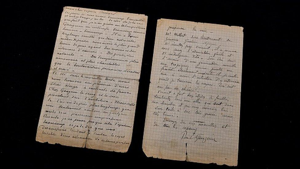 Van Gog i Gogen su napisali pismo dok su živeli zajedno na jugu Francuske