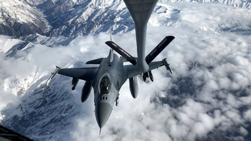 US military plane over Afghanistan