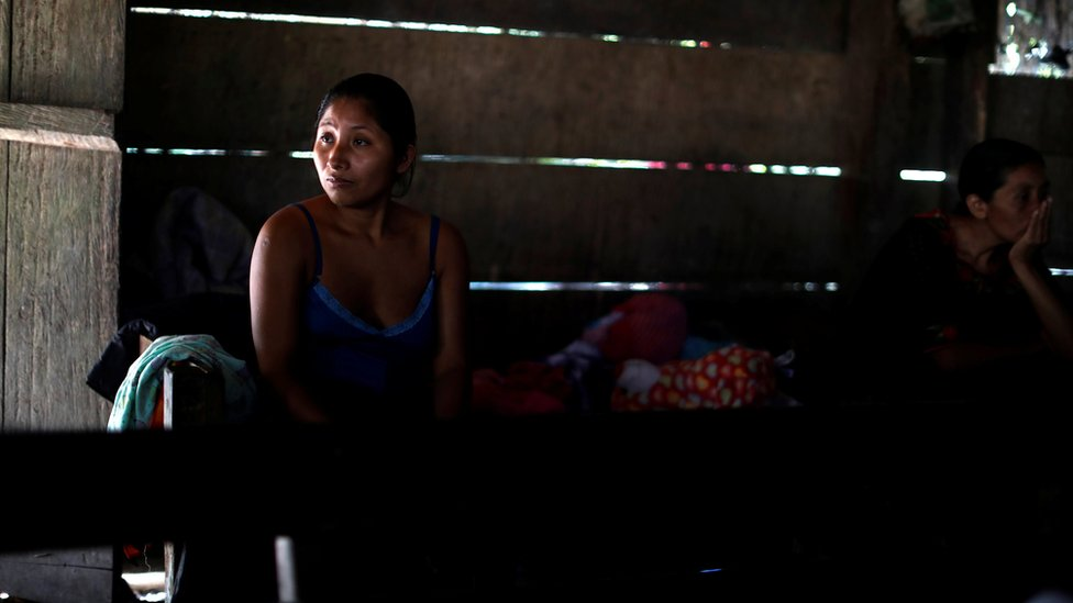 "Claudia Maquin, mother of Jakelin Caal, waits for the arrival of her daughter""s coffin in San Antonio Secortez village, Guatemala, 22 December 2018"