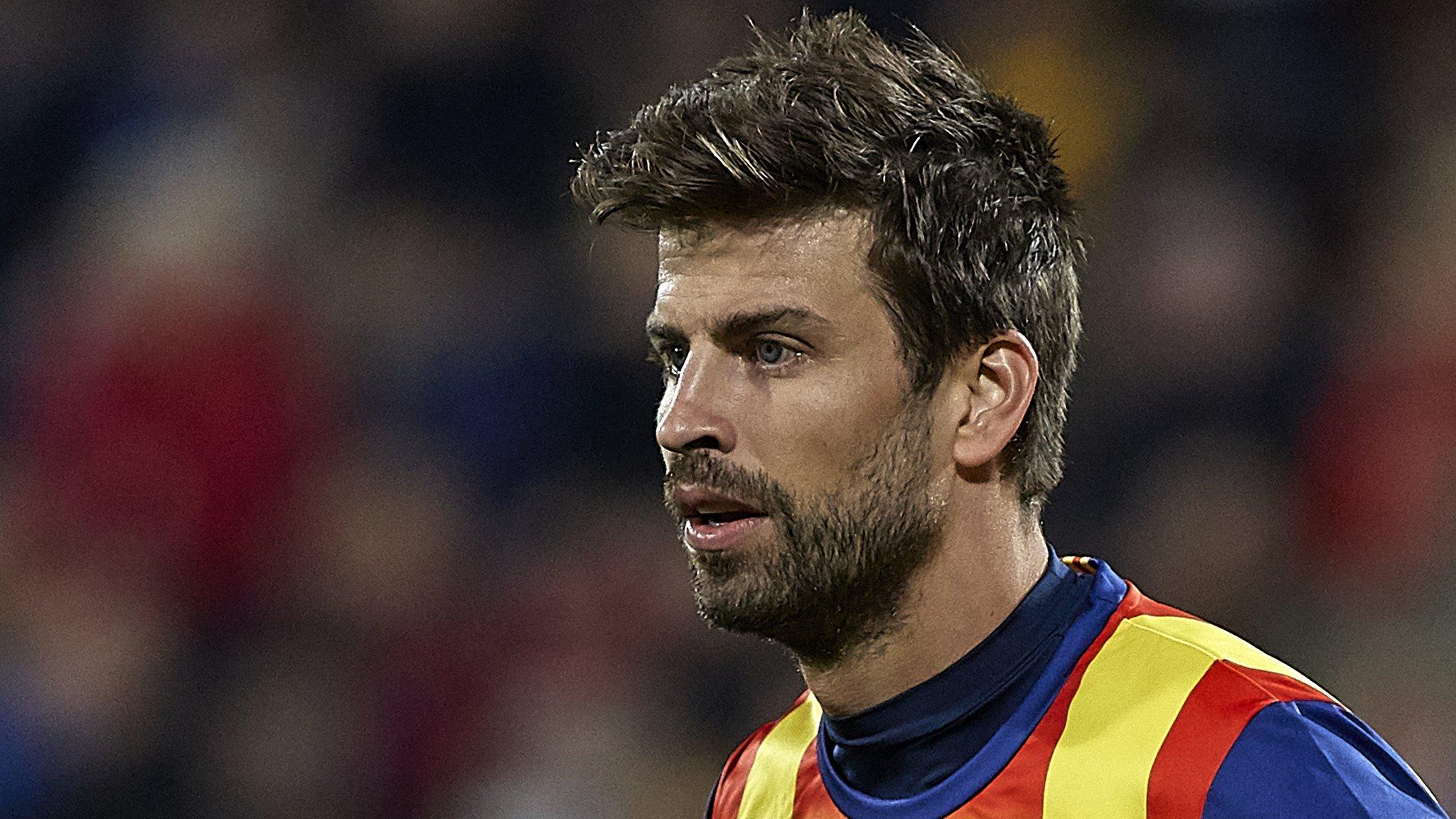 Gerard Pique plays for Catalonia in friendly against Venezuela