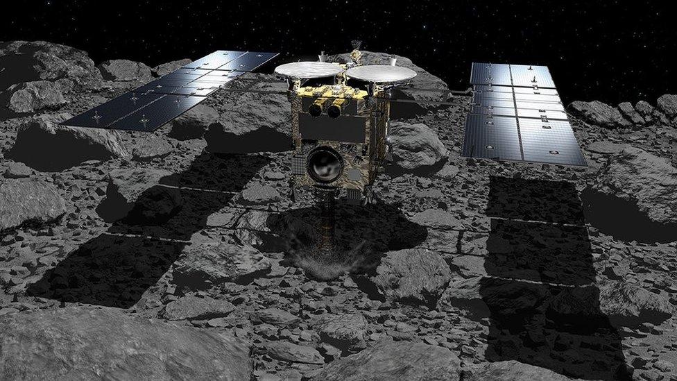 Hayabusa-2: Spacecraft's 'bomb' crater found