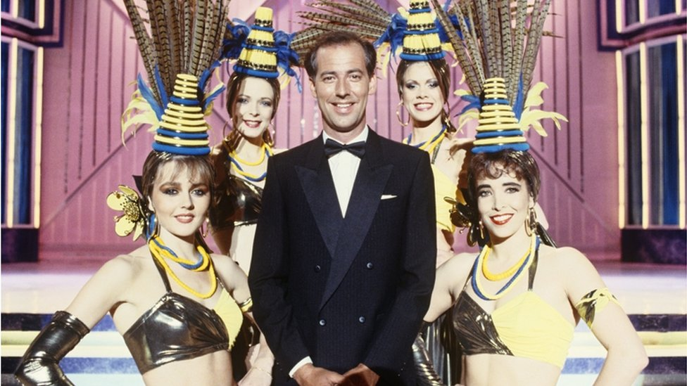 Michael Barrymore and showgirls