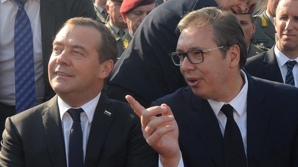 Medvedev i Vučić u Beogradu