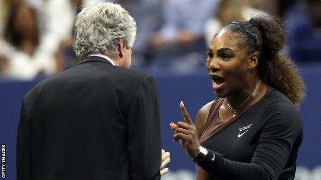 Williams discutió con el árbitro del torneo.