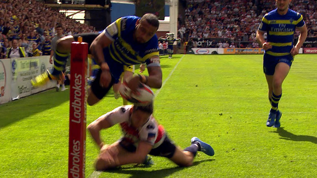 Kevin Penny scores for Warrington