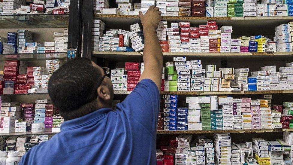 Una farmacia en Egipto