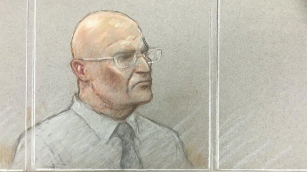 Bob Higgins court sketch
