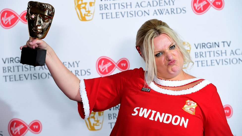 Baftas: Creator of Swindon Town dress thought star would 'bottle out'
