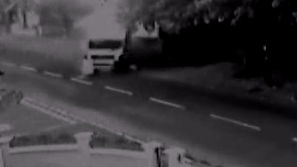 CCTV footage shows lorry 'out of control' before fatal crash