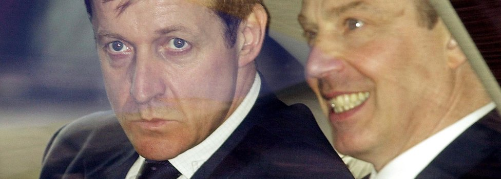 Alastair Campbell with former PM Tony Blair