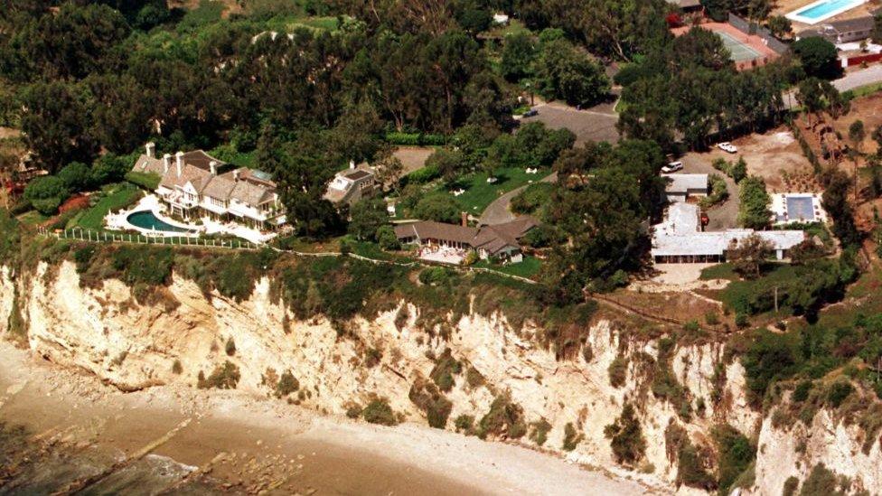 La mansión de Barbra Streisand en Malibú.