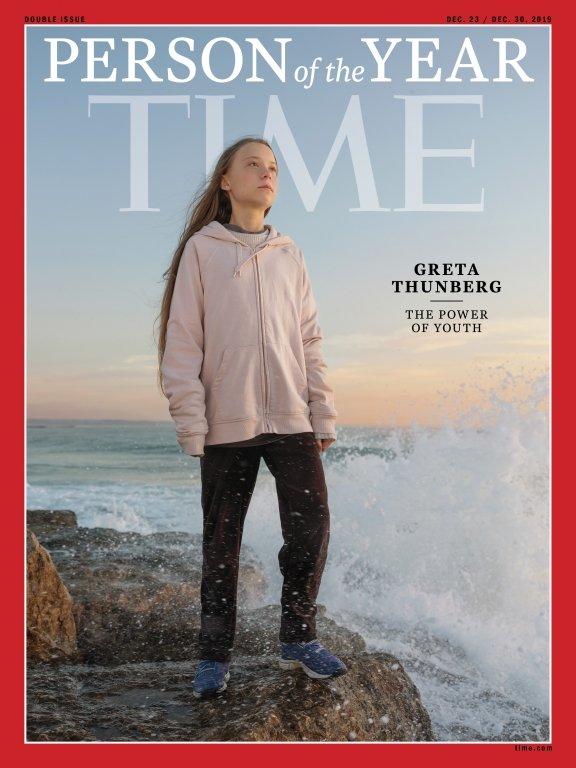 La portada de Time que declara a Greta Thunberg persona del año