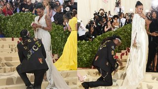 BBC News - Met Gala: Cardi B, Elon Musk and all the bits you missed