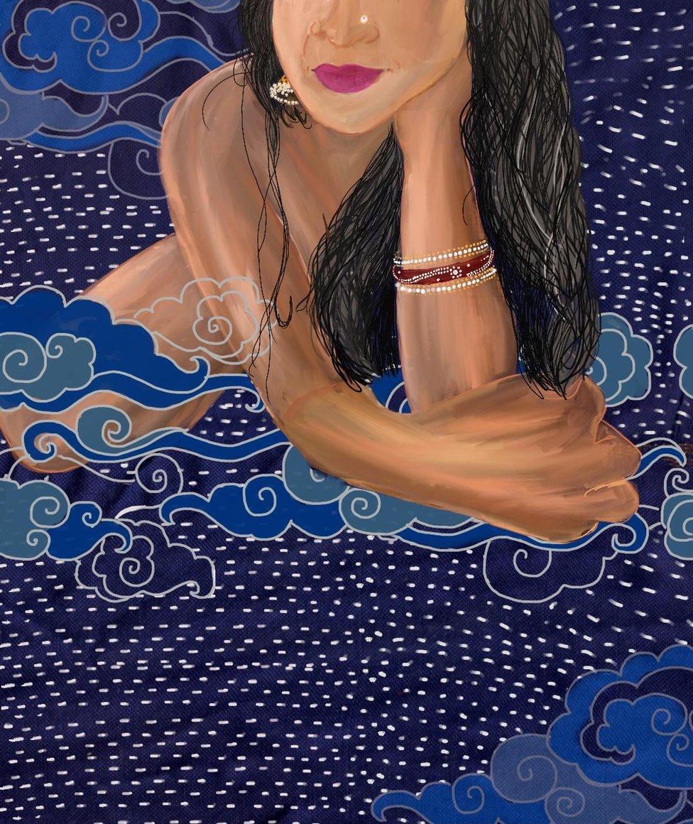 رسم للفنانة نفسها