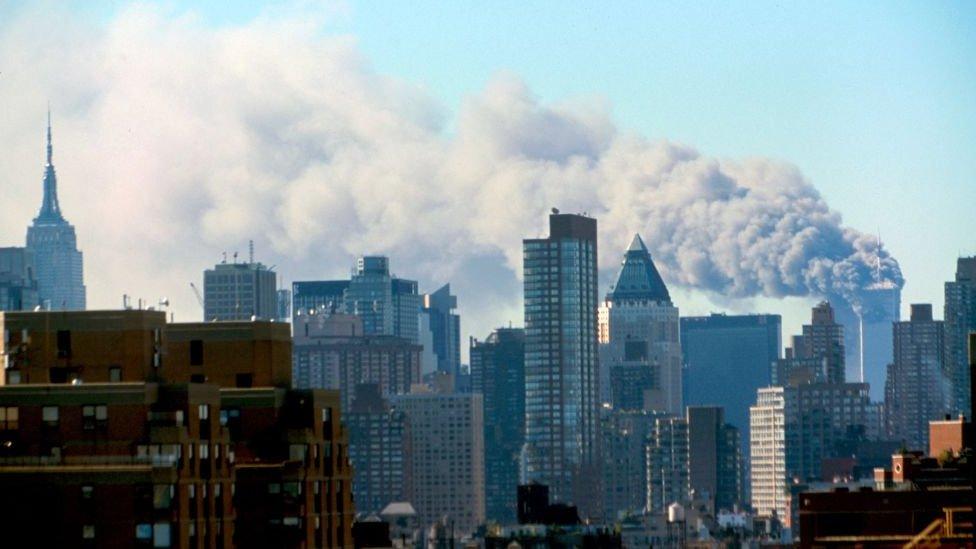 The 9/11 attacks in New York in September 2001