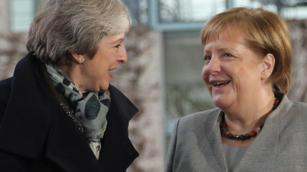 Theresa May y Angela Merkel