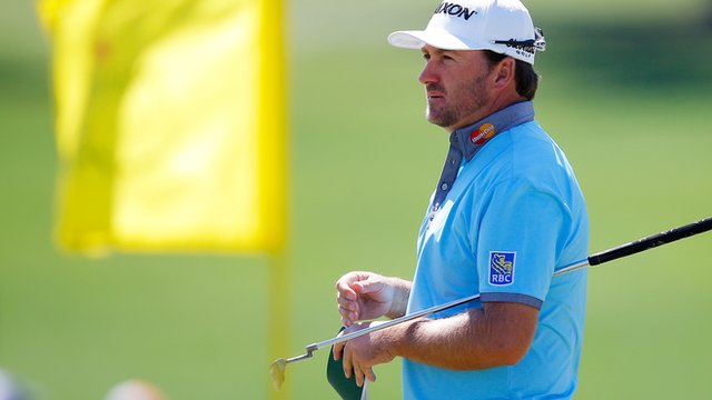 Graeme McDowell during a practice round at Augusta