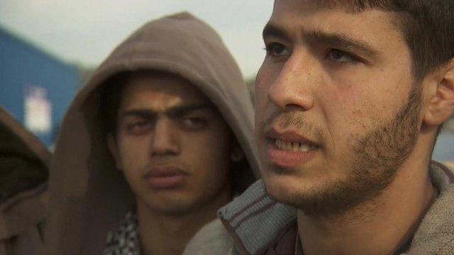Refugees on Leros