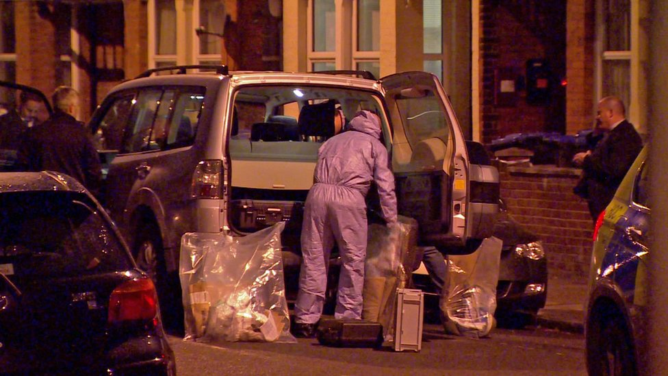 Police at scene of Willesden shooting