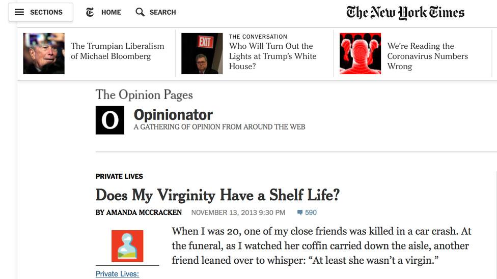 El artículo de opinión de McCracken en el New York Times