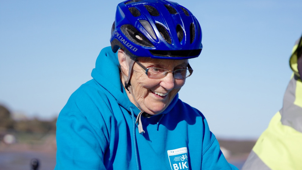 Blind North Yorkshire great-grandmother cycles again