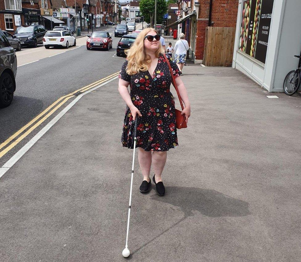 Dr Amy Kavanagh walking along the street