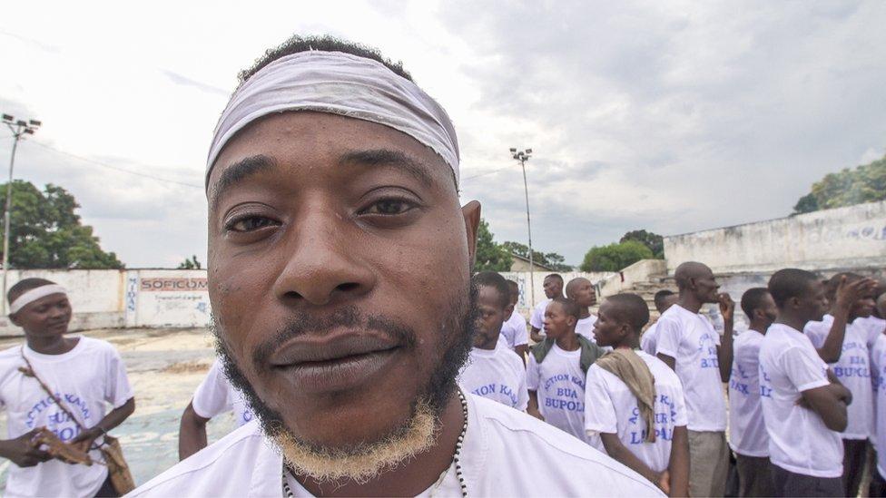 """General"" Gaylord Tshimbala - a self styled military leader of the Kamuina Nsapu"