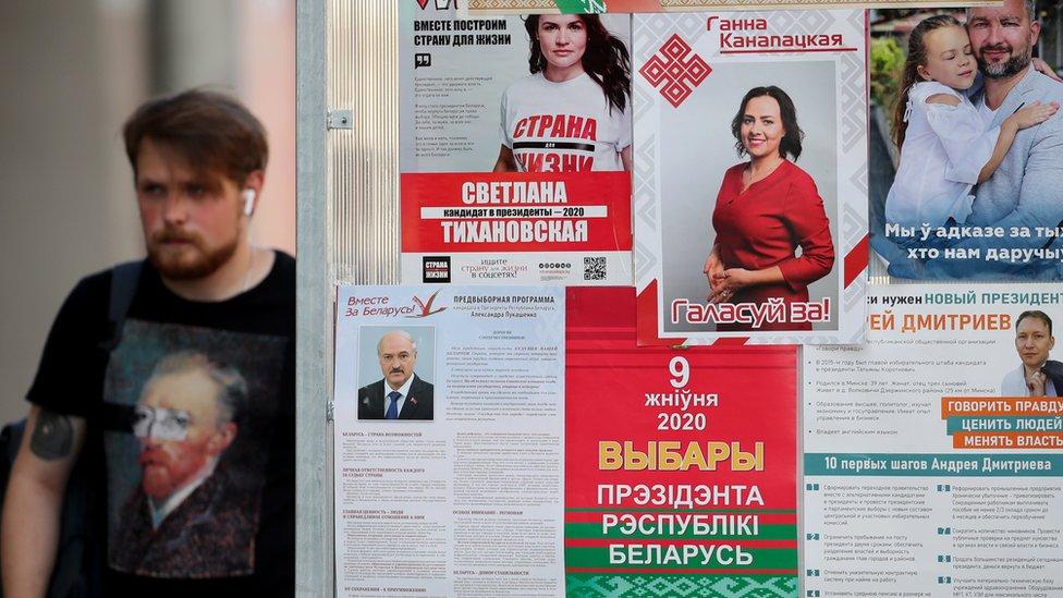 День до выборов в Беларуси: Тихановская предостерегает от насилия, главу ее штаба задержали