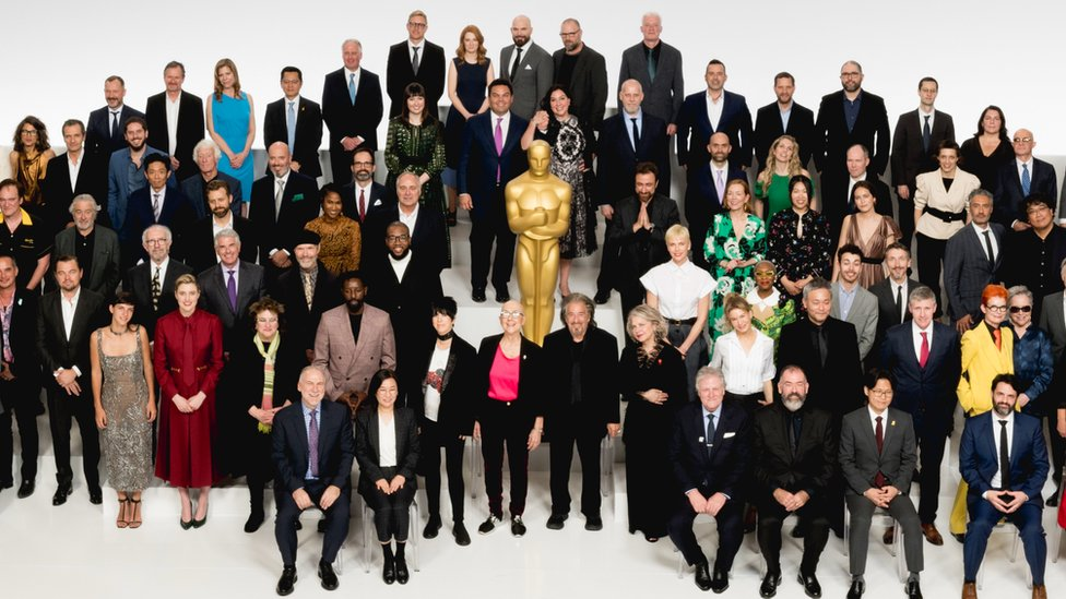 The 2020 Oscars class photo