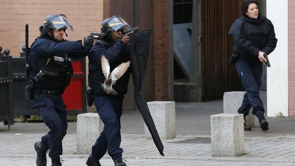 Police forces in Saint-Denis, Paris, on 18 November 2015