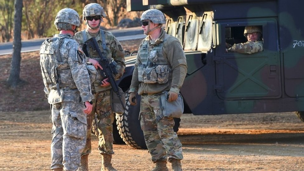 US soldiers in South Korea (file image)