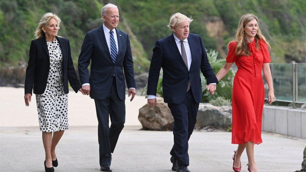 美英領導人及夫人