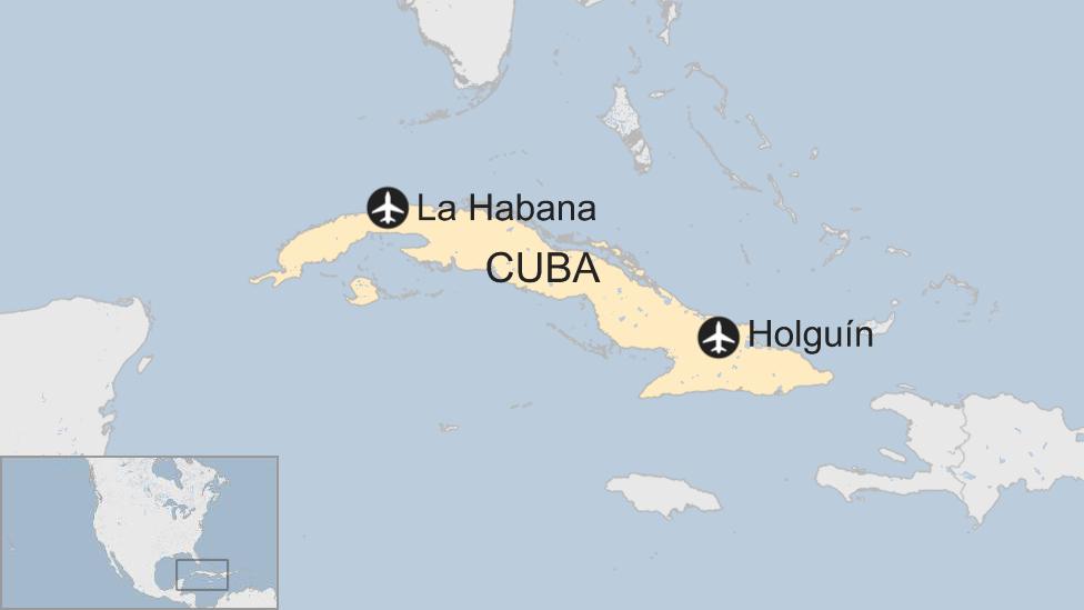 Mapa La Habana - Holguín